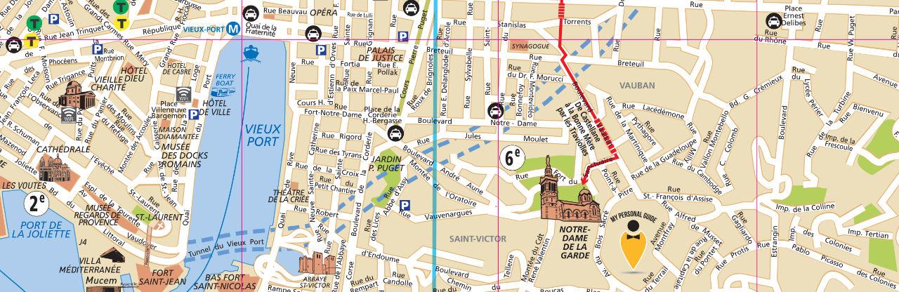 Plan de Marseille - Voyages - Cartes